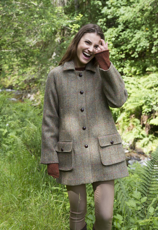 Women S Country Coat In Harris Tweed