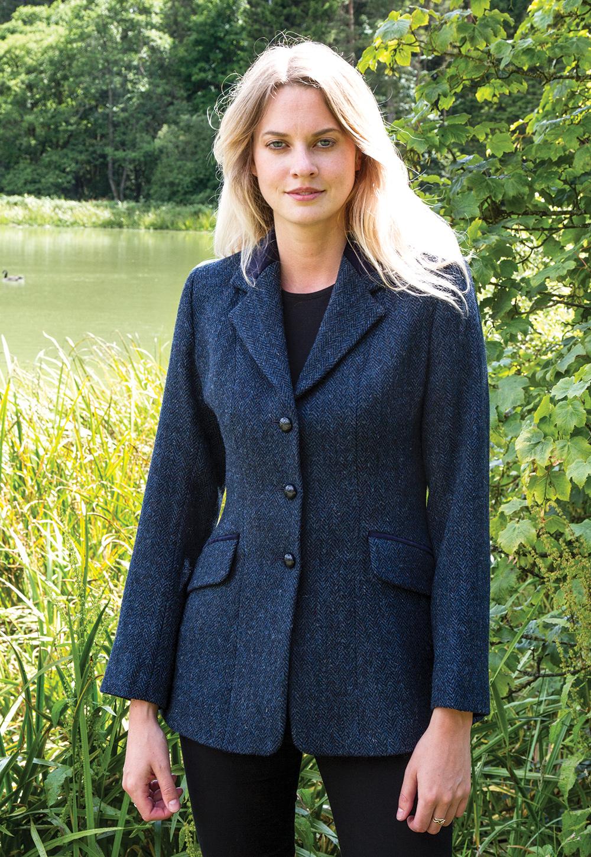 Jacket Harris Tweed Navy