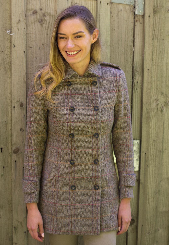 Harris tweed coat women